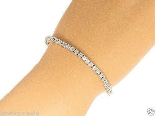 1 Row Genuine Natural Round Diamond Tennis Bracelet in 7 Inch 2