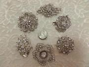 Vintage Rhinestone Brooch Lot