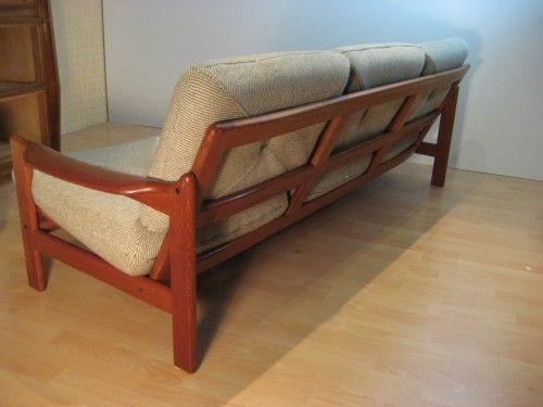 teak sofa design stil ebay. Black Bedroom Furniture Sets. Home Design Ideas