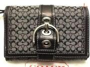 Black and Grey Coach Wallet