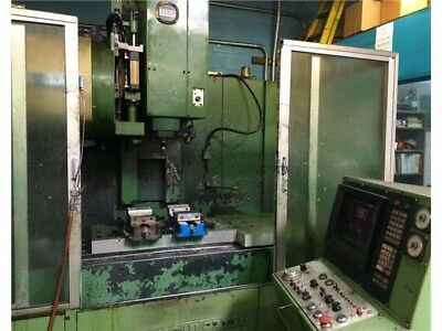 Hitachi Seiki Va-45 Vertical Machining Center Fanuc Under Power And Running