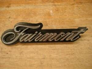 """FALCON XT (1968/69) """"FAIRMONT"""" GRILLE BADGE + BACKING PLATE Beverley Charles Sturt Area Preview"""