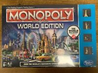 Hasbro Parker Monopoly Here & Now World Edition Brand New And Sealed, unwanted gift, bargain