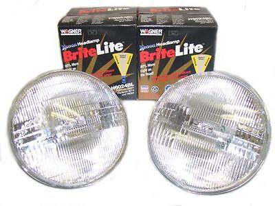 2 XENON Headlight Bulbs 1970-1976 Plymouth Duster NEW