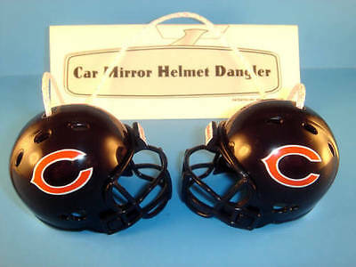 CHICAGO BEARS CAR MIRROR NFL FOOTBALL HELMET DANGLER - HANG FROM ANYTHING!