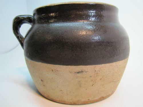 Brown White Crock Ebay