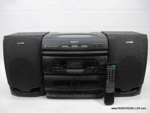 sony cd radio cassette player ebay. Black Bedroom Furniture Sets. Home Design Ideas