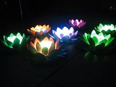 Lily Pad Float (LED Floating Lily Pad Lights Swimming Pool Light White Ligh USA)