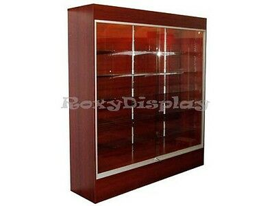 Wall Cherry Display Showcase Retail Store Fixture Wlights Knocked Down Wc6c-sc