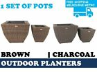 Square Flower & Plant Grow Bags Boxes