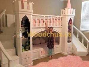 PRINCESS CASTLE Bunk Bed or Loft Bed & Play House .. ♥‿♥