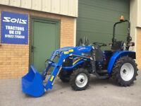 NEW SOLIS 20 4WD COMPACT TRACTOR LOADER ideal for flail grass mower