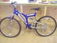A MENS GENTS EMMELLE FULL SUSPENSION MOUNTAIN BIKE BICYCLE CYCLE 26 INCH WHEEL