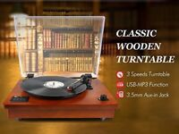 *NEW* 1BYONE TURNTABLE / RECORD PLAYER - Built-in speakers, Bluetooth, MP3 Conversion