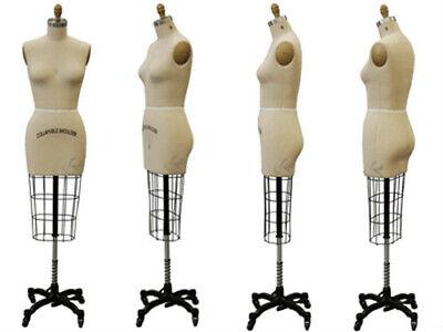 Professional Pro Female Working Dress Form Mannequin Half Size 12 Hip