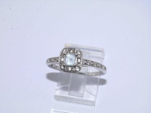 Vintage Aquamarine Ring Ebay