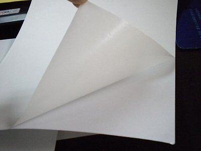 100 Sheets White Self Adhesive Split Back Sticky Paper A4