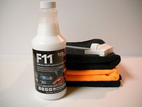 F11 TopCoat  16oz Bottle & (3) Microfiber Towels - FACTORY SEALED BOTTLE