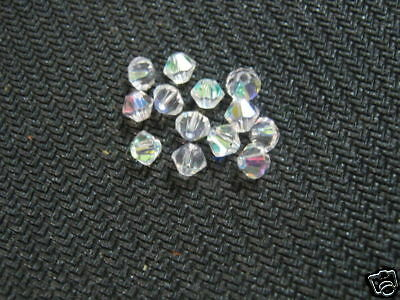 Crystal Glass Beads for Crafts, Abacus Beads, 4mm 15pcs