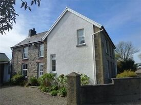 LOVELY 4 BEDROOM HOUSE WITH LARGE ANNEX. LOVELY COUNTRYSIDE VIEWS & NEAR BEACHES OF PENBRYN/TRESAITH