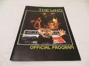 The Who Concert Program
