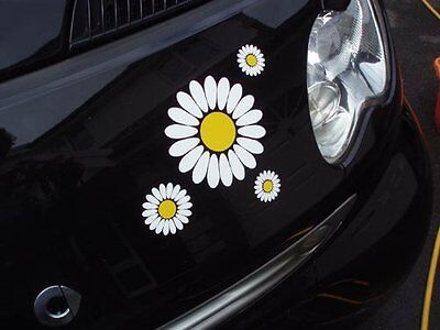 30 large Daisy Flower Set Car Camper VW Self Adhesive Stickers  Easy Apply DIY