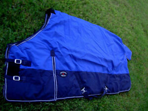 HORSE Turnout WINTER BLANKET 1200D Blue 76