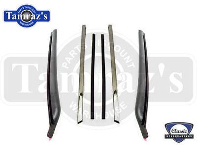 68-72 GM A Body Quarter Window Vertical Chrome Channel Trim Weatherstrip Seal PR