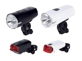 LED Bike Light Set front and rear + batteries /brand new