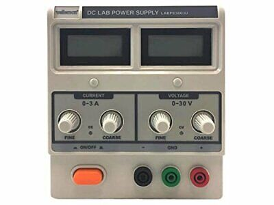 Velleman Labps3003u - Dc Lab Power Supply 0-30 Vdc 0-3 A Max With Dual Lcd
