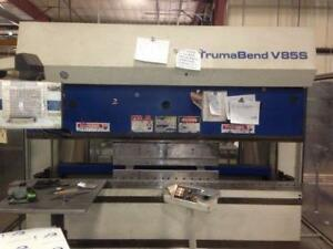 (USED) CNC HYDRAULIC PRESS BRAKE / TRUMPF 85T x 81""