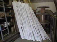 2 Metre lengths of MDF, white under coated. Ten for a £1.00