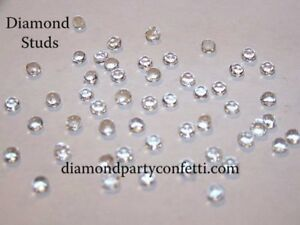 5mm Edible Diamond Studs Wedding Cake Cupcake Jewel Sugar Decoration 54pcs Clear