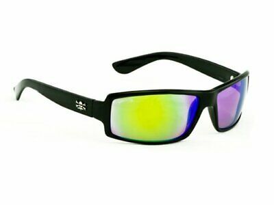 bb101e2edb4 Callcutta Polorized Sunglasses New Wave Shiny Black Frame W  Green Mirror  Lenses