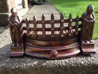 Vintage 1950's Fire Grate - Carnival Cast Iron metal
