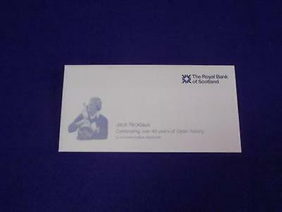 Royal Bank Of Scotland Jack Nicklaus Commemorative 5 Pound Note