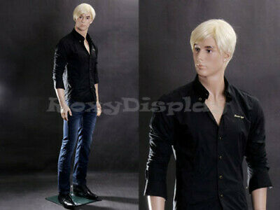 Male Fiberglass Realistic Mannequin Dress From Display Standing Pose Mz-wen6