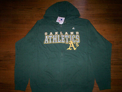 OAKLAND ATHLETICS NEW MLB MAJESTIC CLUB SEAT LONG SLEEVE HOODED SHIRT (Majestic Athletic Hood)