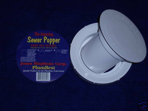 "SEWER RELIEF VALVE POPPER 3"" OR 4"" PIPE THREAD (6PCS) PREVENT FLOODING HOUSE"