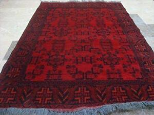 Exclusive Afghan Khal Muhamadi Designed Rectangle Area Rug Hand Knotted Wool Carpet (6.1 x 4.3)'