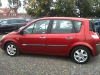 2004 RENAULT MEGANE SCENIC 1.9 dCi Dynamique DIESEL 5 Door MPV METALLIC RED low milage, long mot.