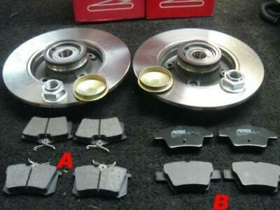 PEUGEOT 307 REAR BRAKE DISC WITH BEARING FITTED 30MM REAR BRAKE PADS BOSCH TYPE