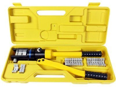 Industrial Grade Hydraulic Crimping Tool Large Battery Cable Lugs 6 To 40 Gauge