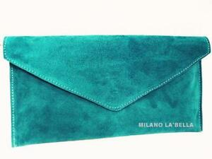 Turquoise Suede Bags