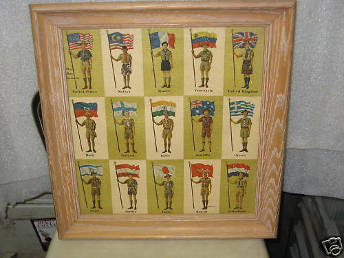 The Boy Scouts, International Scouts with flags print
