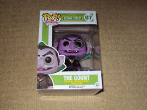 FUNKO, POP, THE COUNT, VAULTED, SESAME STREET #07, VINYL FIGURE