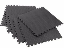 10 interlocking Eva soft foam exercise floor mats gym,garage,house and office mats.