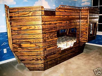Pirate Ship Theme Children's Bed Blueprints
