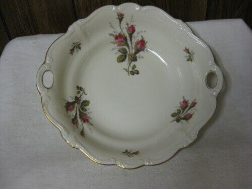 Rosenthal Moss Rose Round Vegetable Bowl Pompadour Shape Ivory with Roses