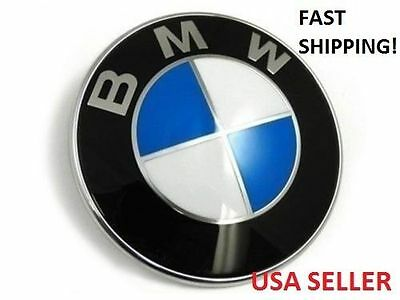 NEW Car Emblem Chrome  Badge Logo 82mm  For BMW Hood/Trunk USA SELLER Emblems